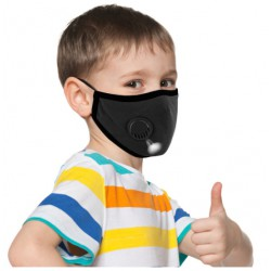 Children's protective mask with valve